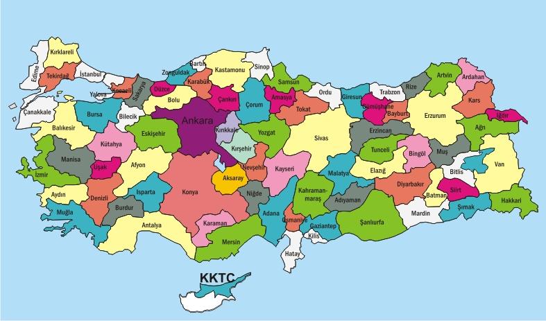 Полный список адресов Миграционной службы Турции по провинциям